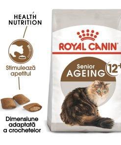 hrana uscata pisici royal canin aging 12