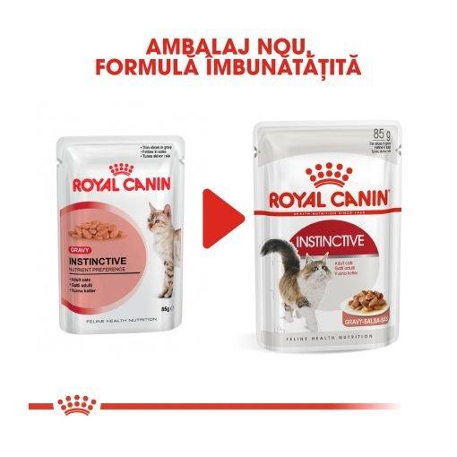 hrana umeda pisici royal canin instinctive in gravy
