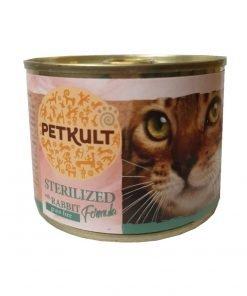 Conserva pisici Petkult Cat Sterilised Iepure