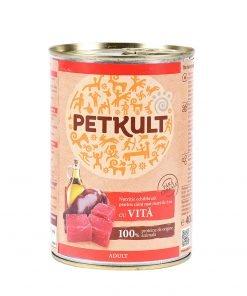 Conserva pentru caini Petkult Dog Adult Vita