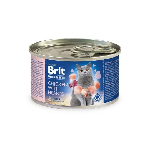 Brit Premium By Nature Cat Chicken with Hearts