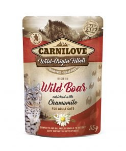 Hrana umeda pisici Carnilove Cat Pouch Rich in Wild Boar with Chamomile
