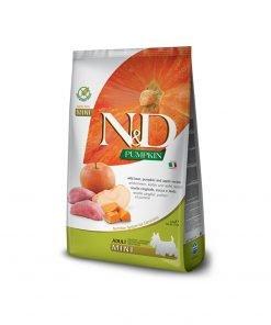Hrana uscata caini N & D Pumpkin Boar and Apple Adult Mini