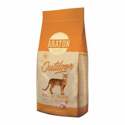 Hrana uscata pisici Araton Cat Adult Outdoor Chicken & Turkey