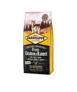 Hrana uscata caini Carnilove Fresh Chicken and Rabbit Bones and Joints Adult Dogs