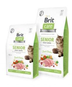 Hrana uscata pisici Brit Care Cat GF Senior Weight Control