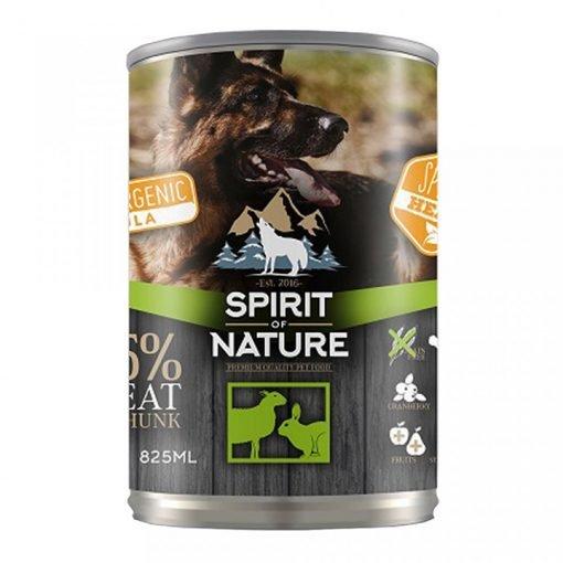 Hrana umeda caini Spirit of Nature Conserva cu Miel si Iepure Dog