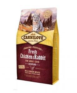 hrana uscata pisici Carnilove pui si iepure