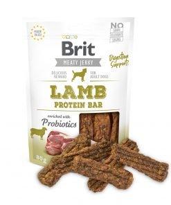 brit jerky lamb protein bar snack pentru caini