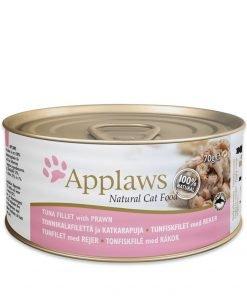 applaws conserva pisici cu file de ton si creveti